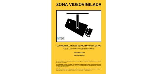 Requisitos lopd para un sistema de videovigilancia en una - Cartel de videovigilancia ...